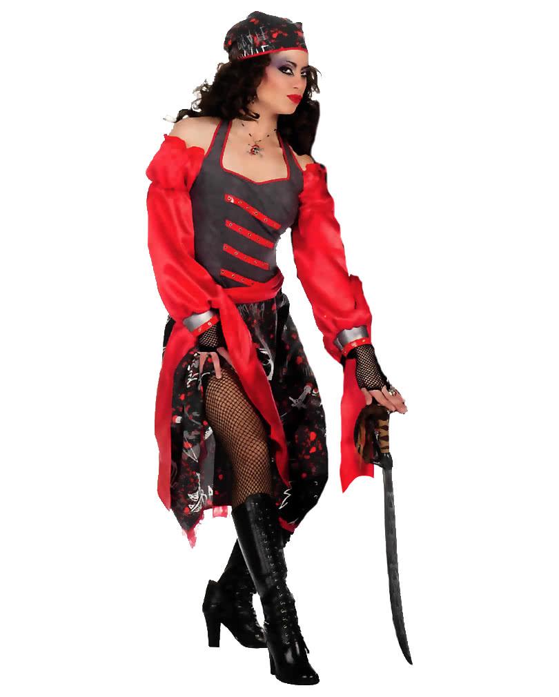 Totenkopf Piratin Kostum Seerauberin Kleid Fur Frauen Karneval
