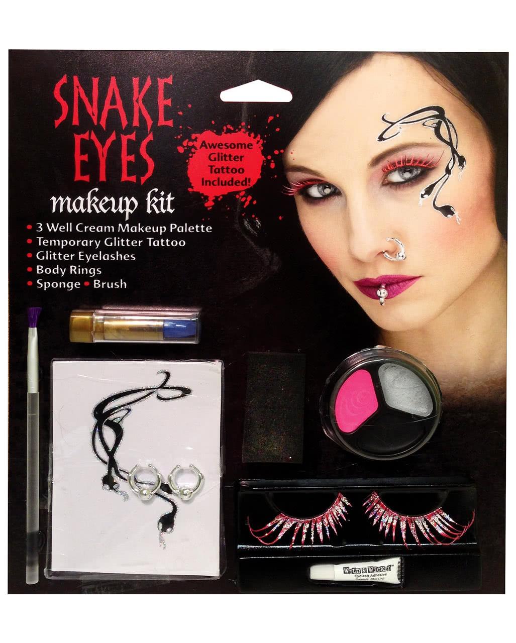 Schlangen Fee Make Up Kit Theaterschminke Faschingsschminke Spezial