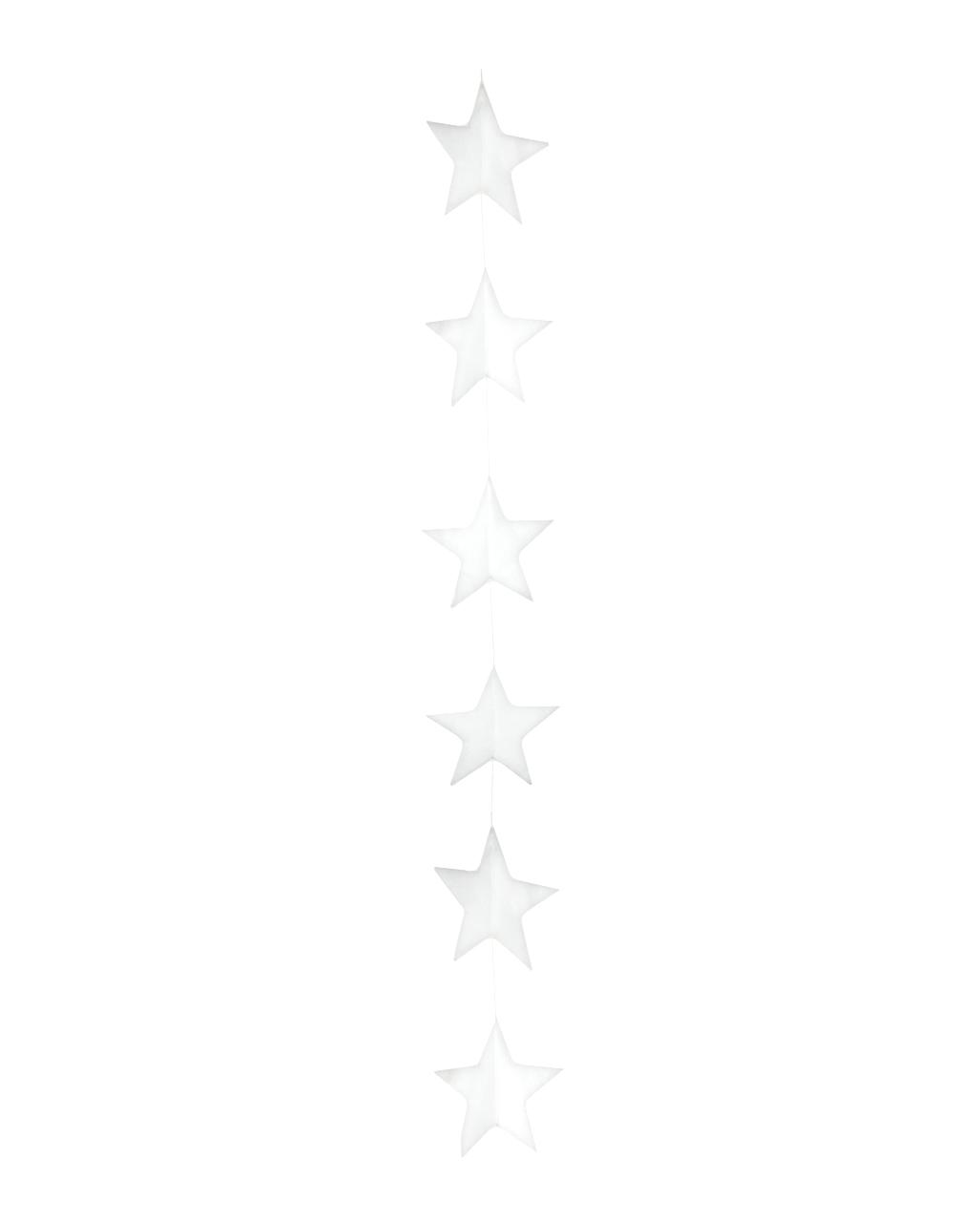 Weihnachtsdeko Watte.Sternengirlande Aus Watte Gross