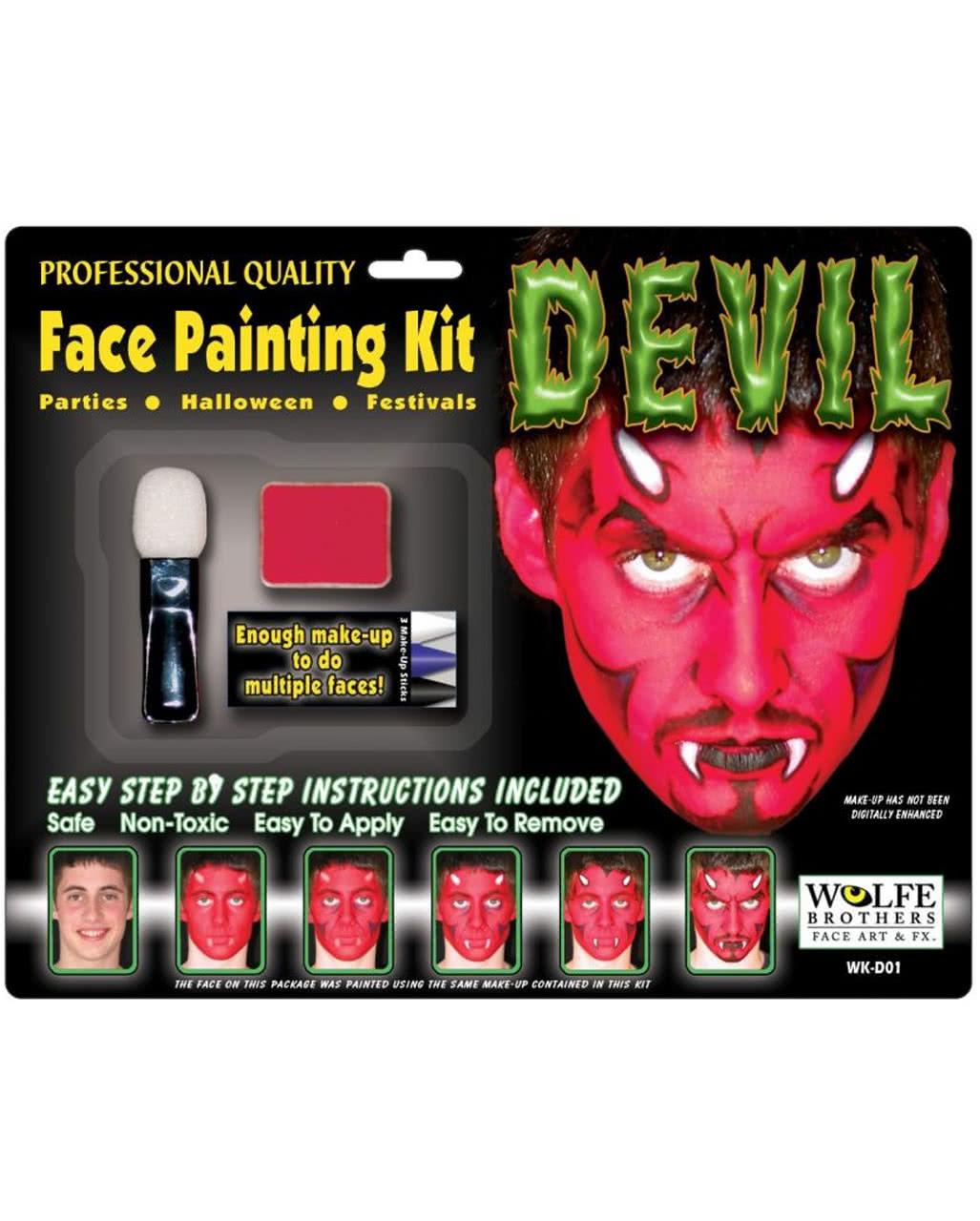 Teufel Komplett Make Up Set Fur Halloween Karneval Universe
