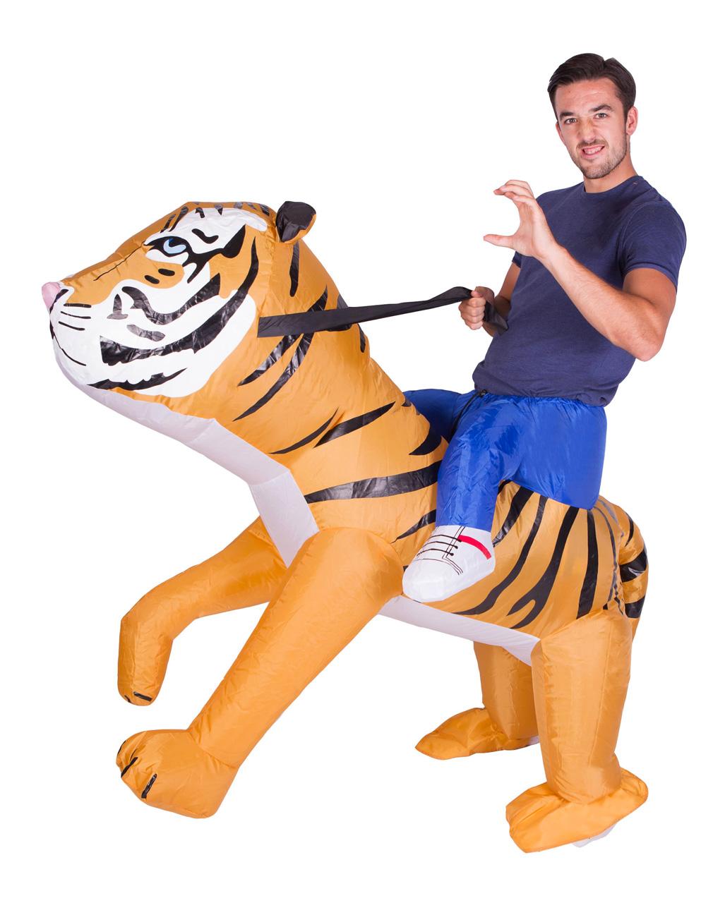Tiger Huckepack Kostum Zum Aufblasen Karneval Universe