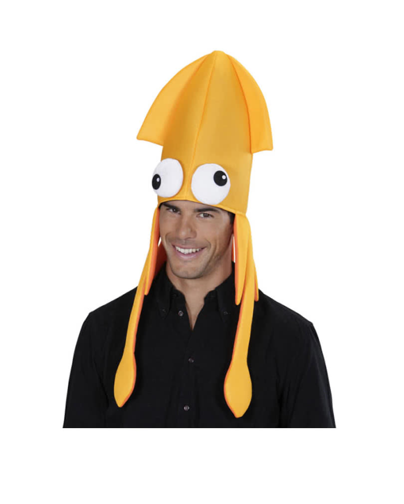 926a7d67db Tintenfisch Mütze orange | Kraken Hut für Fasching | Karneval Universe