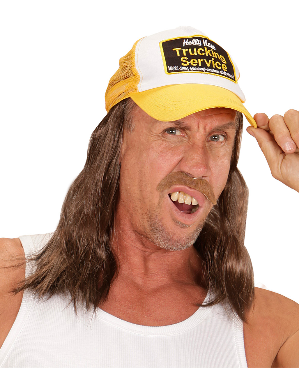 53d21c7e Trucker Hat With Hair as costume accessories   - Karneval Universe