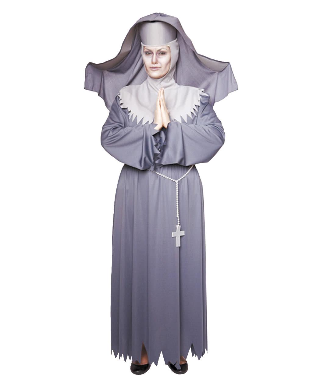 Unbarmherzige Nonne Kostum Nonnen Kutte Ordensschwester Kostum