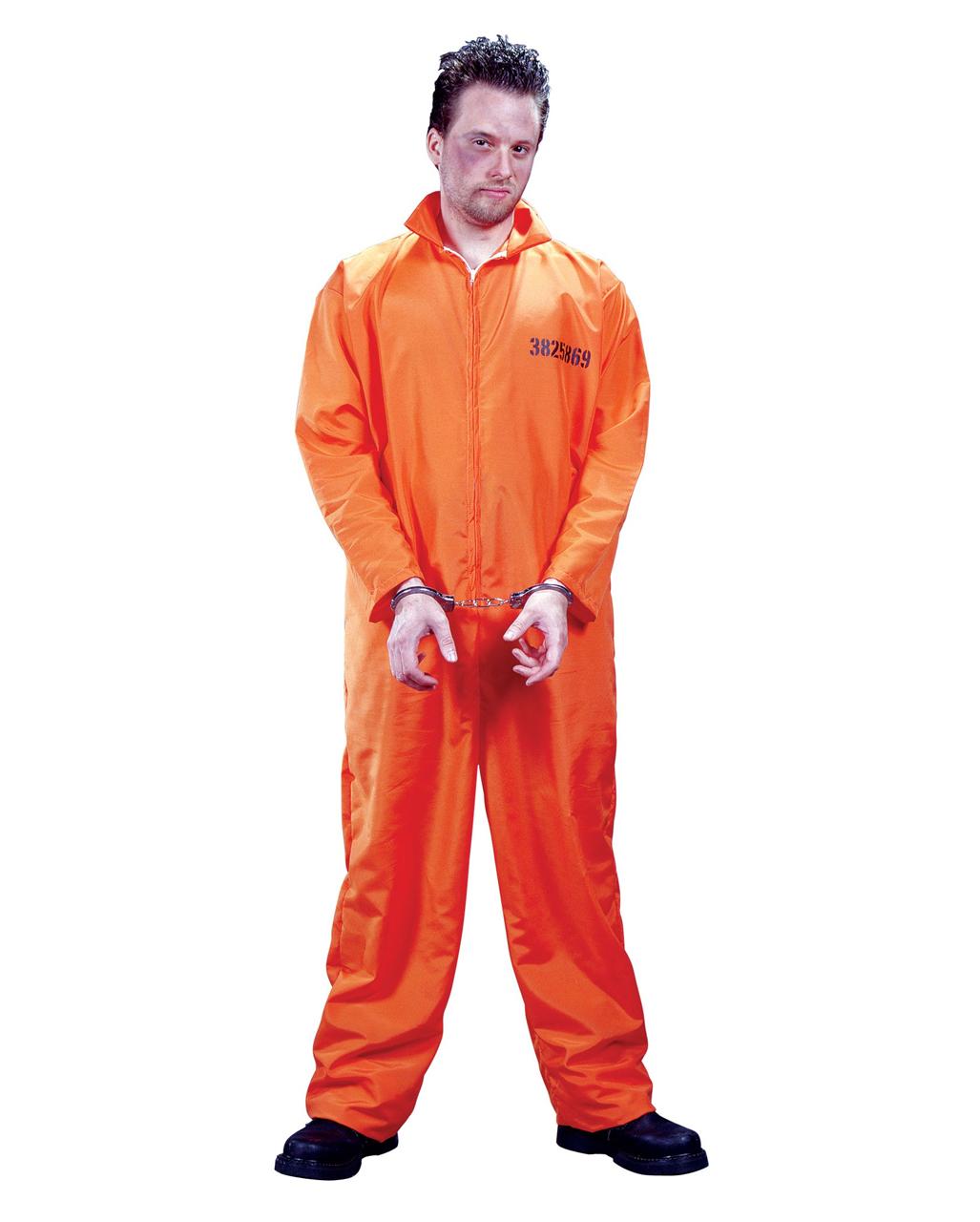 Us Prisoner Costume Convict Costume Prisoner Jumpsuit