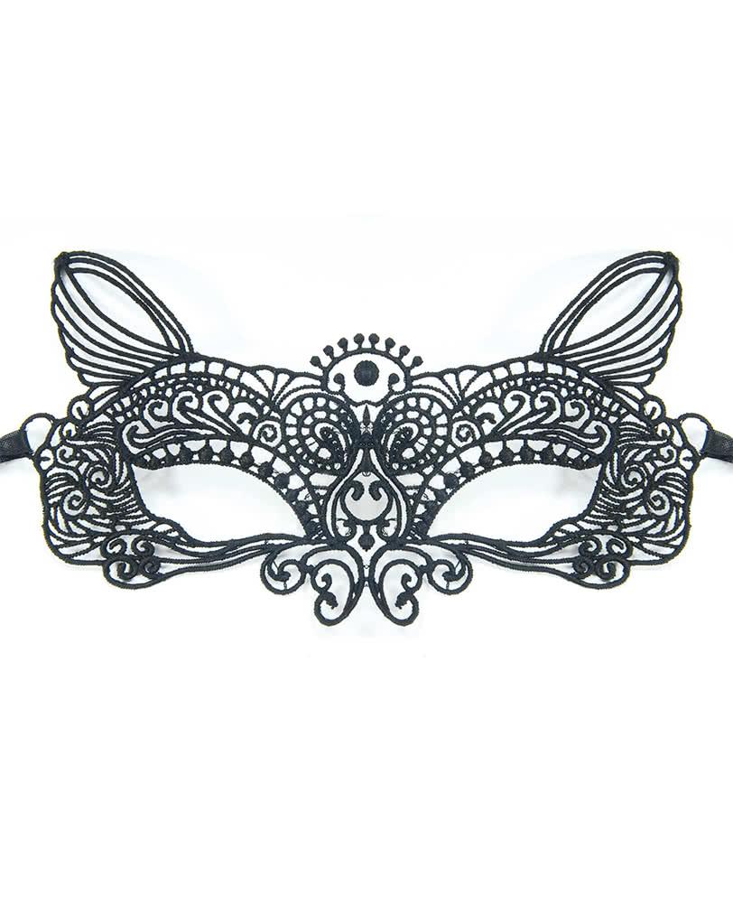 Venezianische Katzenmaske aus Stoff | Zeitlose Augenmaske für ...