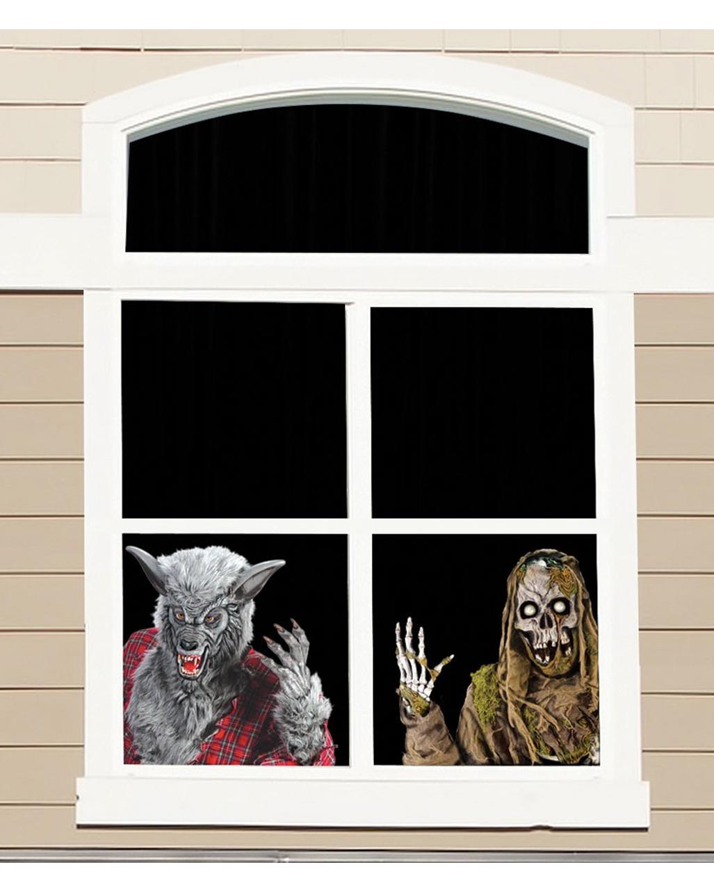 Fensterfolie Werwolf Und Skelett 60cm Bestellen Karneval Universe