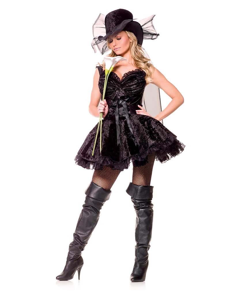 Lustige Witwe Premium Kostum Gr M Sexy Halloween Und