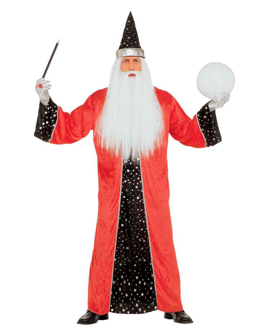 Zauberer Kostum Rot M Zaubererkostum Karnevalkostum Halloweenkostum