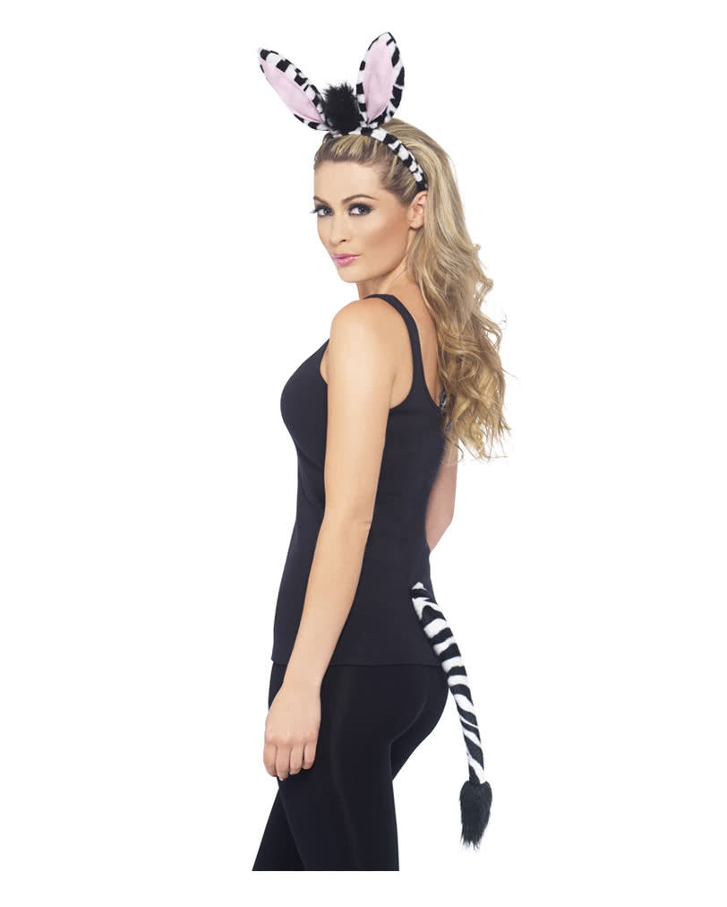 Zebra Costume Party Set Funny Animal Ears As Party Set