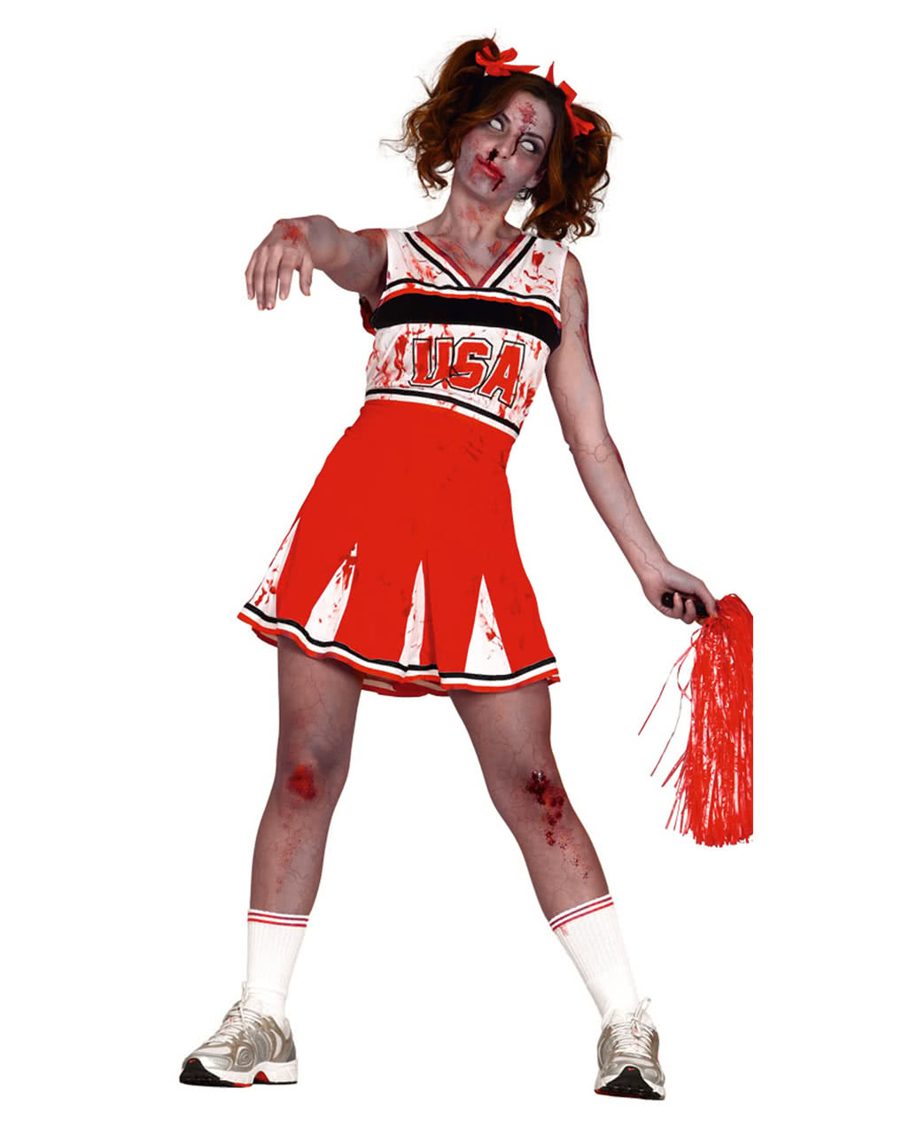 Zombie Cheerleader Damenkostum Fur Halloween Karneval Universe