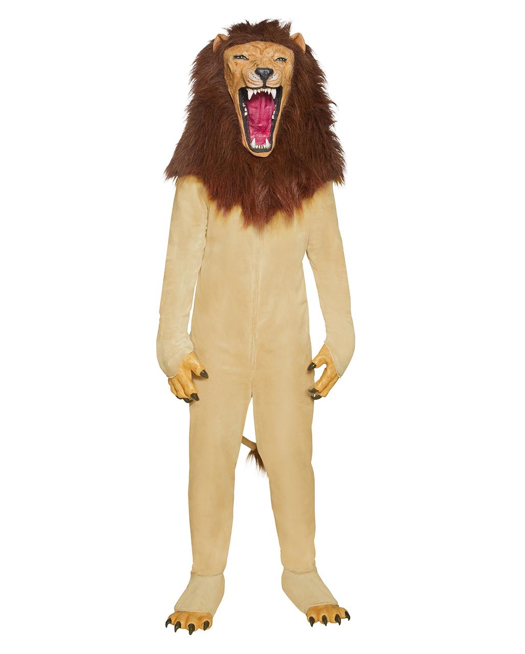 Lowen Kostum Mit Vollkopfmaske Eindrucksvolle Tier Verkleidung