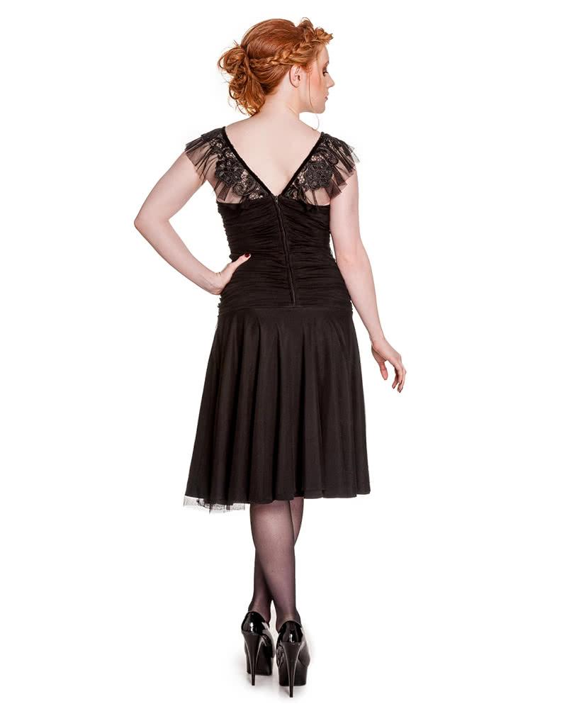 Hell Bunny Kleid Patricia schwarz | Gothic Kleid | Abendkleid ...