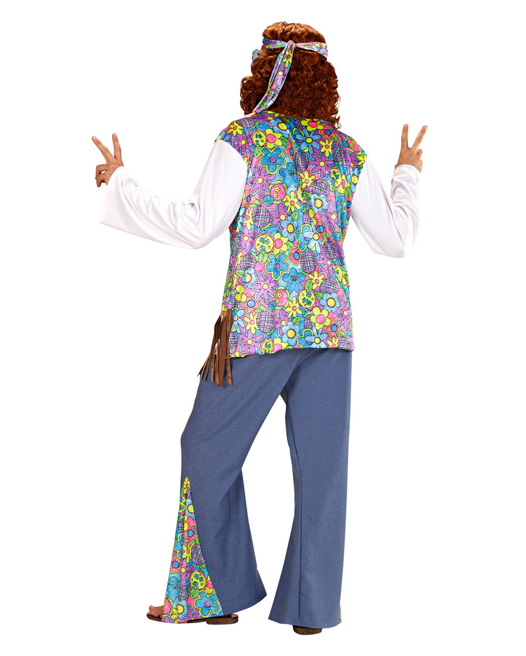 Hippie Manner Kostum Gr M Hippiekostum Karneval Universe