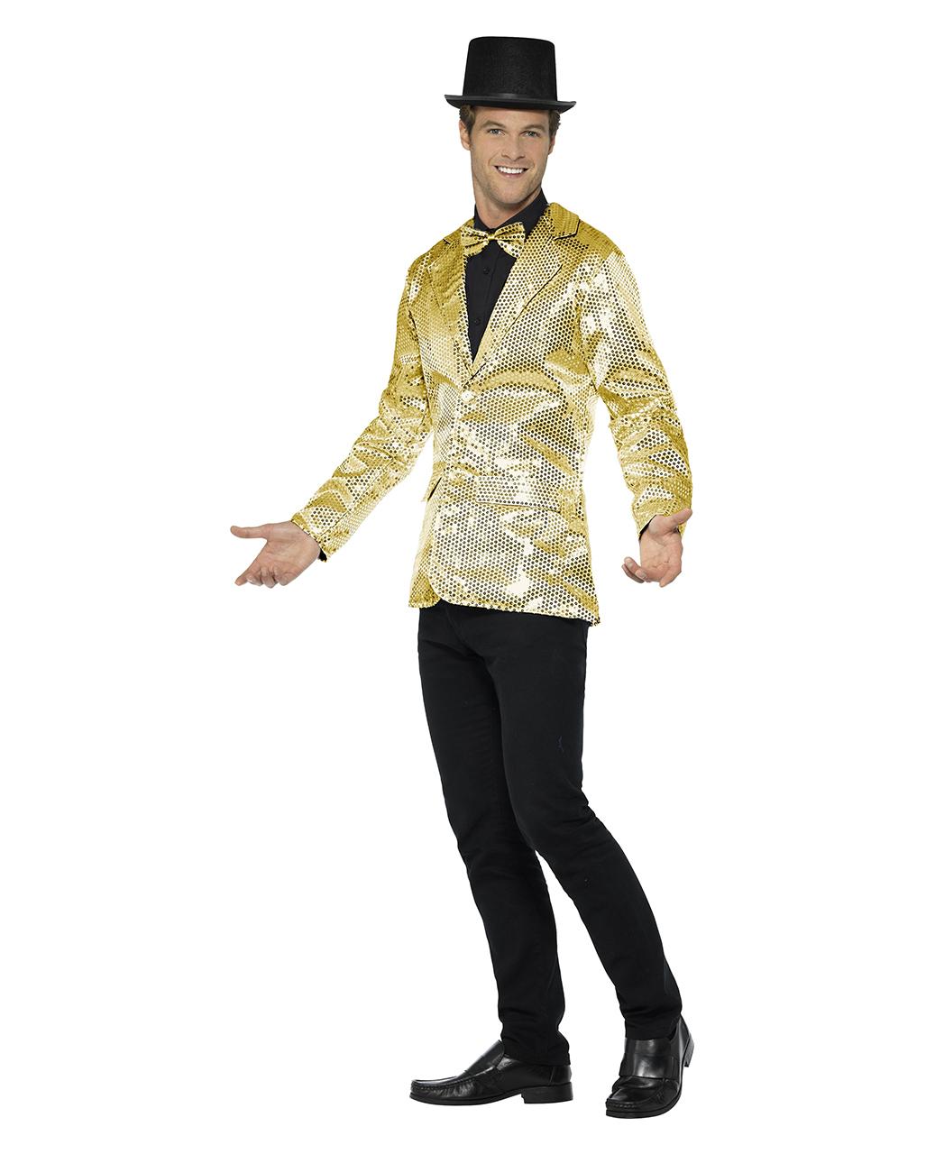 Goldene Manner Pailletten Jacke Online Bestellen Karneval Universe