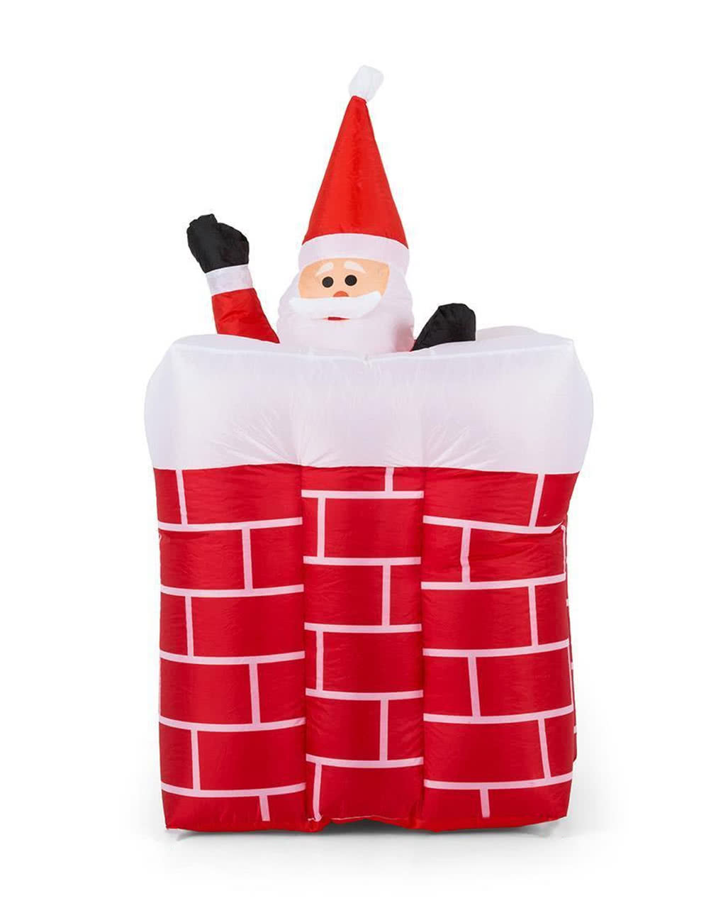 Aufblasbarer Weihnachtsmann im Kamin 180cm als Dekoration für ...