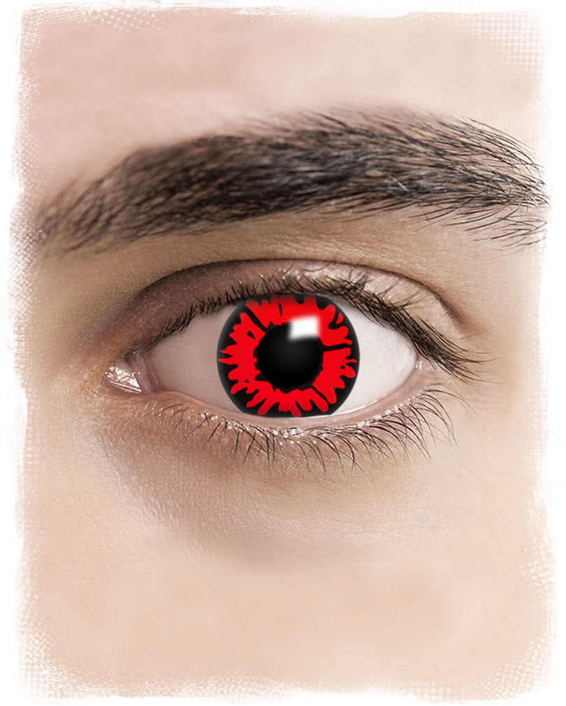 fire eye contact lenses | black and red motif lenses | - karneval