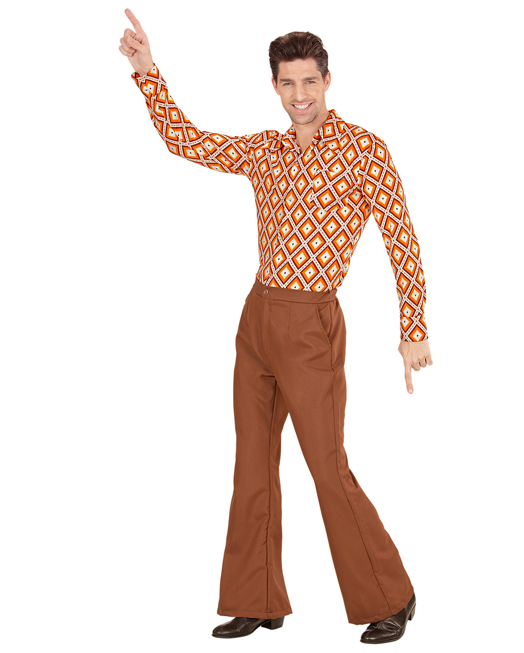 Groovy 70s Men S Breeches Brown To Buy Karneval Universe