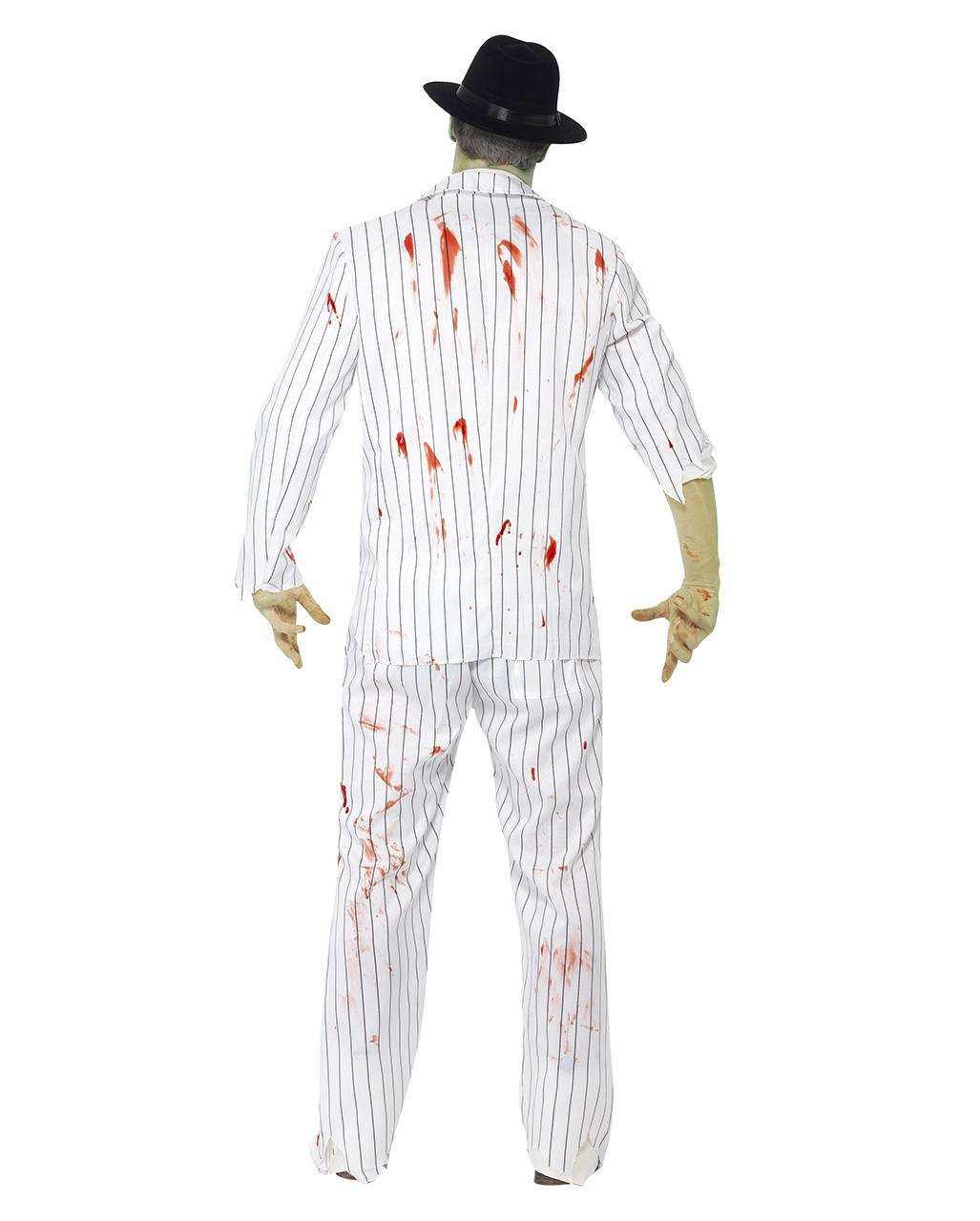 zombie gangster costume   undead trim for men   - karneval universe