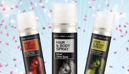 Farbiges Haarspray & Haarfarben