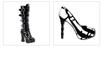 Gothic Schuhe & Rockabilly Pumps
