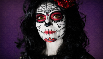 Day of the dead make-up