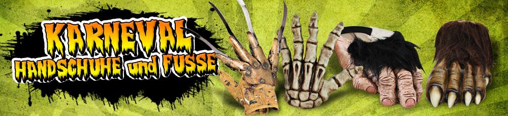 Karneval Handschuhe & Füße