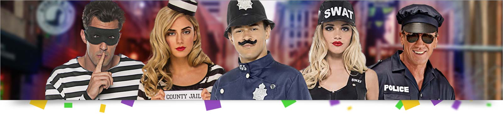 Polizei Kostüm & Gangster Kostüm