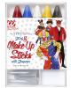 5 Bunte Schmink Stifte mit Spitzer