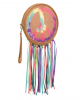 60s Tambourine Peace Bag With Fringes