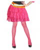 80ies Lace Mini Skirt - Neon Pink
