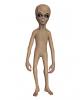 Alien Körper als Deko Figur
