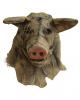 Vintage Vogelscheuche Schwein Maske