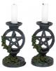 Antike Pentagramm Kerzenständer 2 St.