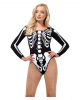 Opaque Skeleton Long Sleeve Body