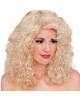 Blonde Lockenperücke Deluxe