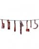 Blutige Fleischer Werkzeug Girlande