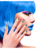 Colourful Neon 80s Fingernails 12 Pcs.