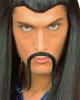 Selbstklebender Chinesen Schnurrbart Schwarz