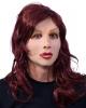 Frauen Latex-Maske mit Langhaarperücke