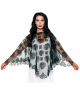 Day of the Dead Poncho mit Spitze