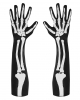 Elbow Length Skeleton Gloves