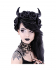 Evil Queen Gothic Headdress With Horns