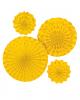 Gelbes Fächer-Deko Set