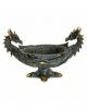 Gothic Drachenschale mit 2 Köpfen