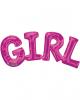 Foil Balloon Lettering Girl Pink