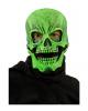 Grüne Totenschädel Maske UV Aktiv
