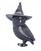 Halloween Owl With Witch Hat 13,5cm