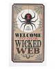 "Halloween Vintage Schild ""Wicked Web"""