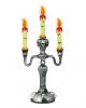 Kerzenständer mit Totenschädel & Fledermäusen